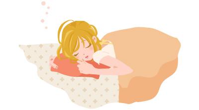 眠る女の子イラスト
