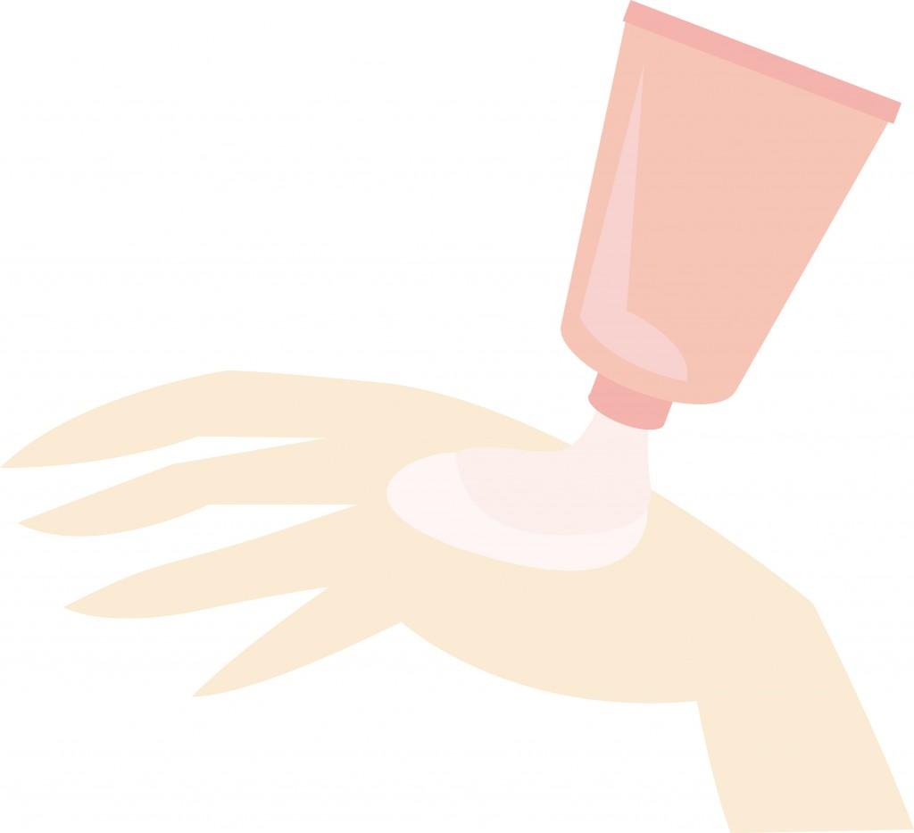 手とハンドクリーム