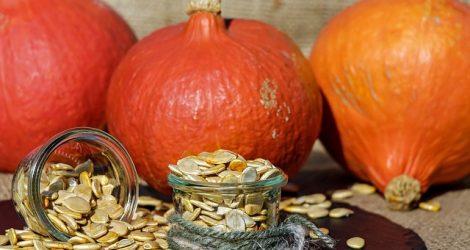 かぼちゃと種