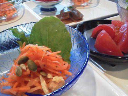 サラダとかぼちゃの種