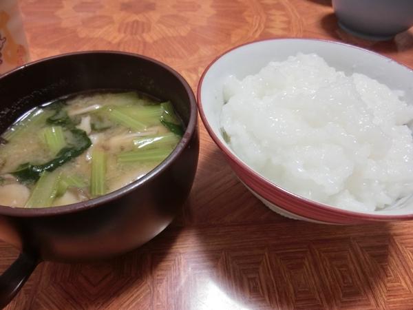 おかゆと味噌汁