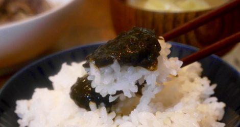 海苔の佃煮とご飯
