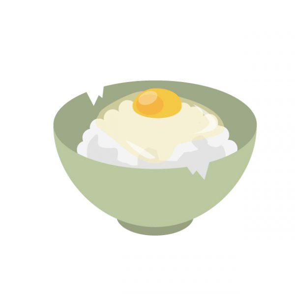 卵ご飯イラスト